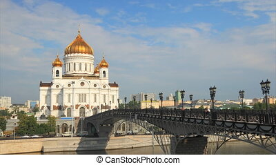 Cathedral Christ Saviour timelapse  - Moscow, Russia