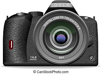 DSLR photo camera - Vector illustration of DSLR photo camera...