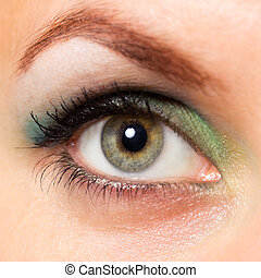 Close-up of a beautiful woman's eye - Close-up of a...
