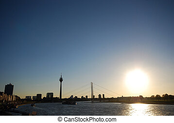 Dusseldorf - Skyline of the city of Dusseldorf Germany