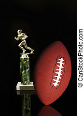 Football. - Football and trophy.