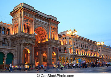 Vittorio Emanuele II gallery in Milan, Italy - View at...