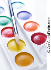 Watercolor Paint Over White