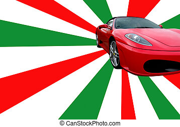 Sportscar - Photo of a sportscar on an italian-coloured...