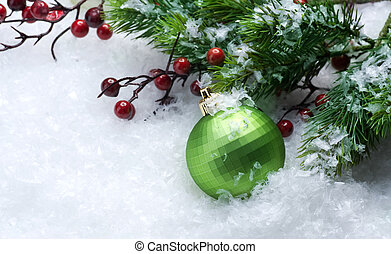 sur,  Décorations, noël, fond, neige