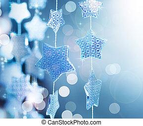 背景, クリスマス, 冬