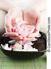 Beautiful Woman Hands. Manicure Or Spa Concept