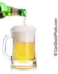 Gießen, bier, weißes, Freigestellt, hintergrund