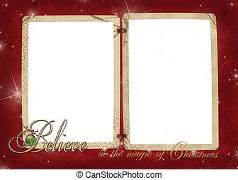 Christmas vintage snapshot frame