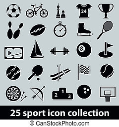 sport icons - 25 sport icon collection