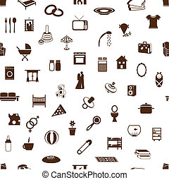 seamless family and home pattern