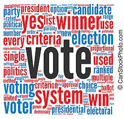 投票, 概念, 選舉, 總統