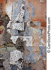 Ageing - An old wall of a house