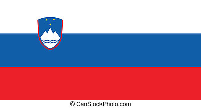 Flag of Slovenia vector illustration