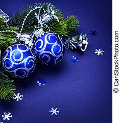 navidad, frontera, tarjeta