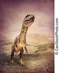Allosaurus large theropod dinosaur outdoor
