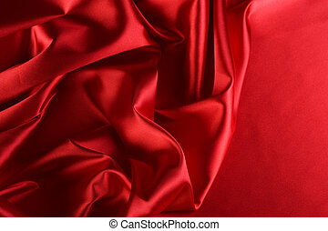 Red Silk Background With Copy-space