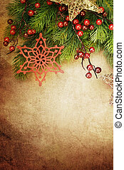 Beautiful Christmas Vintage Greeting Card with copy space