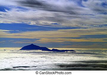 Pico del Teide - Volcano Pico del Teide from the plane