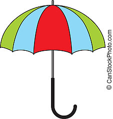 colorful umbrella - Children's illustration - colorful...