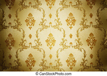 Golden Damask Pattern