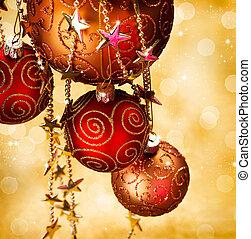bordo, disegno, Natale, Decorazioni