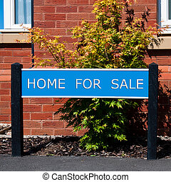 Home for sale - home for sale real estate sign in front of...