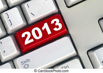 keyboard with red button 2011 New Year