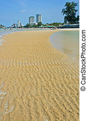 Beach sand ripple pattern
