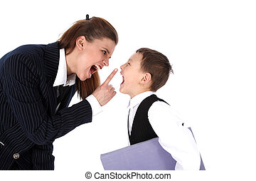 hard relationship - mom and son or teacher and boy