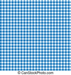 azul, branca, toalha de mesa