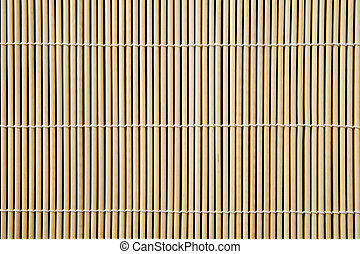 bamboo mat - Asian bamboo mat background image, close up.