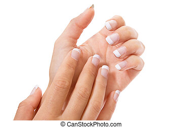 French manicure isolated