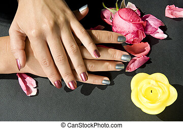 Woman manicure arranged