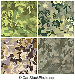 camouflage - new royalty free set of military camouflage...
