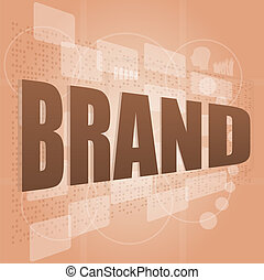 Brand concept in word tag cloud, business concept
