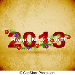 szczęśliwy, nowy, rok, tło