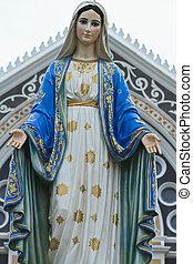Virgen, maría, estatua, Tailandia