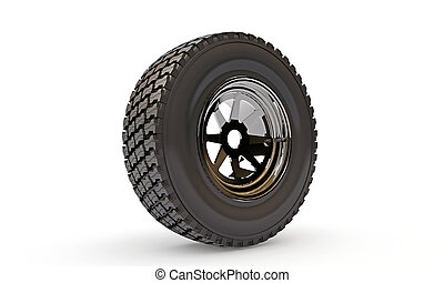 tire isolated on white background