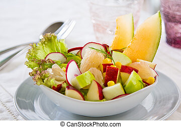 Apple with Grape fruit salad - Apple with Grape fruit,sweet...