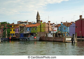 Burano, Italy -- The Village - Burano is an island in the...