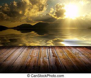 Sunset on a floor