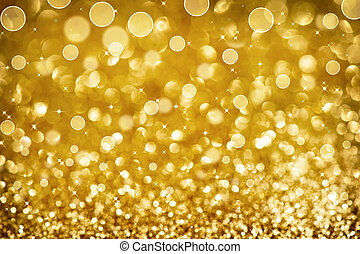 Christmas Golden Glittering background.Holiday Gold abstract...