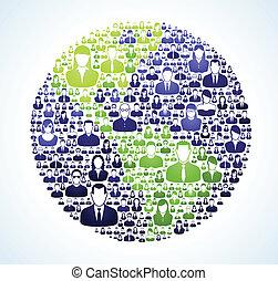 social, mundo, população