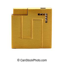 yellow metal lighter