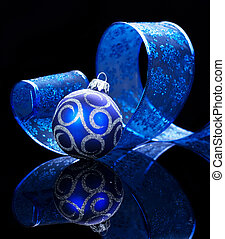 Christmas Bauble isolated on black