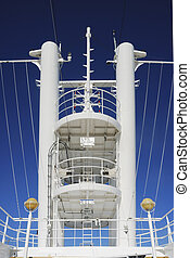 Observation tower in a cruise ship concepts of leadership...