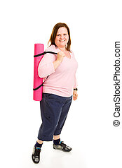 Plus Sized Fitness - Ready for Workout