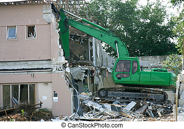 Tearing Down The House - Medium weight shovel tearing down a...