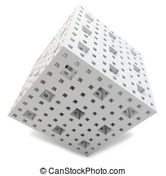 3d cube abstract